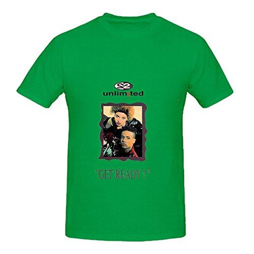 2-unlimited-get-ready-tour-electronica-mens-crew-neck-cool-t-shirt-green