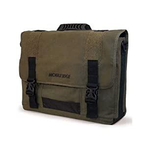 Mobile Edge MECME9 17.3 Eco-Friendly Canvas Messenger Bag Olive by Mobile Edge
