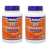 【バリュー2本セット】[海外直送品] NOW Foods 【大増量!】 GTF クロミウム 200mcg  イーストフリー 250粒GTF Chromi...