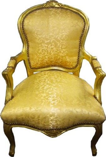 Baroque salon chair pattern gold / gold