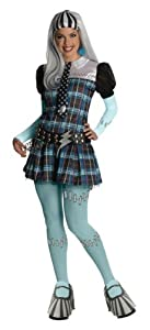 Secret Wishes Monster High Deluxe Adult Frankie Stein Costume, Blue, Large