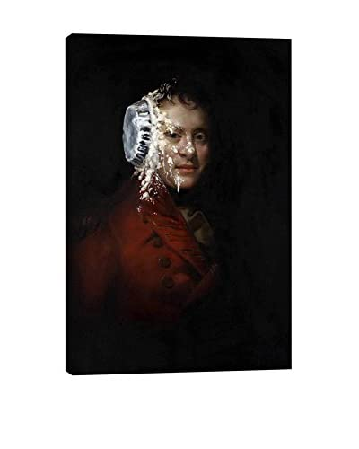 Banksy Pie Face Gallery Wrapped Canvas Print