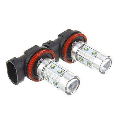 Commoon H11 50W Cool White Light Led Bulb For Car (12-30V,2 Pcs)
