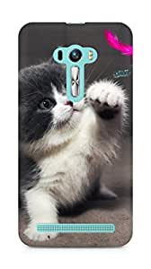 Amez designer printed 3d premium high quality back case cover for Asus Zenfone Selfie (Cute Kitty)