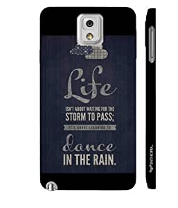 Enthopia Designer Hardshell Case Glass is half full Back Cover for Samsung Galaxy Note 3