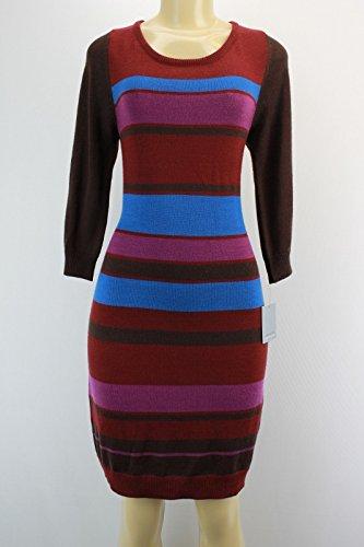 multi-stripped-long-sleeves-knit-sweater-dress-m-multi