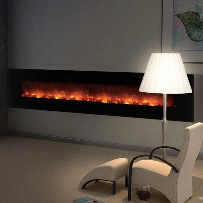 """Clx Series Ambiance Custom Linear Delux Electric Fireplace Size: 25.5"""" H X 100"""" W X 5.13"""" D"""