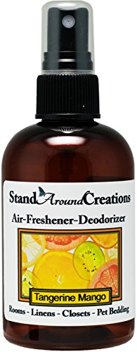 Concentrated Spray For Room / Linen / Room Deodorizer / Air Freshener - 4 fl oz - Scent - Tangerine Mango: An exotic fusion of fresh mango and ripe tangerine. Subtle tropical notes of papaya, peach and creamy coconut. This fragrance is infused with natural orange and coriander essential oils. (Papaya Air Freshener compare prices)