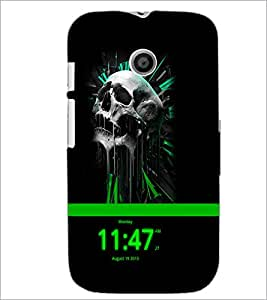 PrintDhaba Skull D-4053 Back Case Cover for MOTOROLA MOTO E (Multi-Coloured)