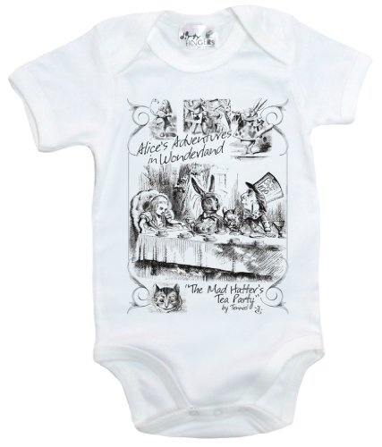 Dirty Fingers, Mad Hatter's Tea Party, Alice in Wonderland, Baby Bodysuit