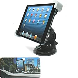 Selna 360 Degree Rotatable Windshield Car Mount Window Tablet Holder Cradle Dock for iPad 2 3 4, iPad Air, iPad Mini / Mini 2, Samsung Galaxy Tab S 10.5 / Tab S 8.4, Galaxy Tab 8.9, Samsung Galaxy Tab 10.1 / Note 8.0, 10.1, G