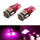 iJDMTOY 5-SMD 168 194 2825 T10 LED Car Interior Map Dome Light Bulbs, Magenta Pink thumbnail