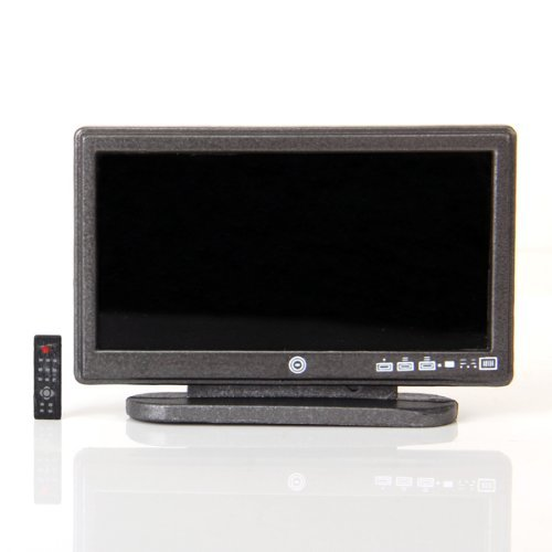 dcolor maison de poupee miniature television a grand ecran. Black Bedroom Furniture Sets. Home Design Ideas