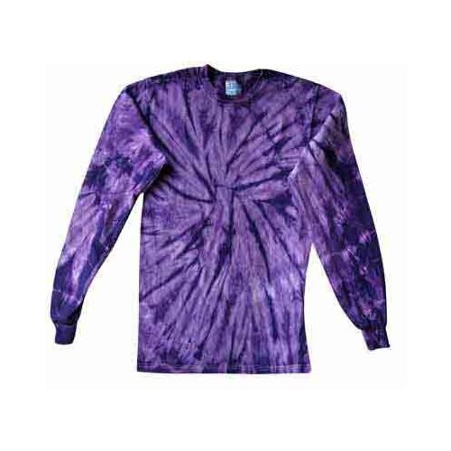 Tie Dye Long Sleeve T Shirt ~ High Quality Cotton ~ Spider