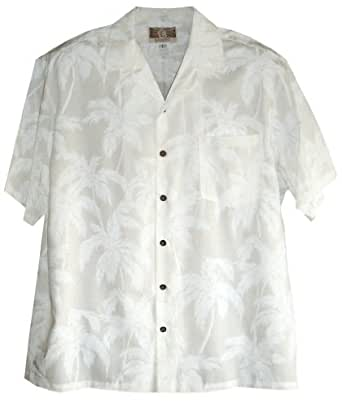 men 39 s hawaiian wedding shirts white palm tree