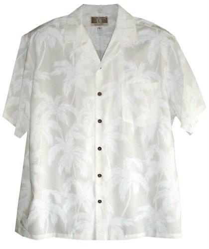 huwikemis men 39 s hawaiian wedding shirts white palm