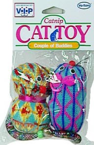 Vo-Toys Mice and Kitten with Catnip Cat Toy
