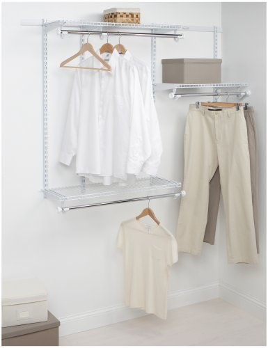 Rubbermaid Configurations Custom Closet Starter Kit, White, 3-6 Foot, FG3E2402WHT (Closet Starter Kit compare prices)
