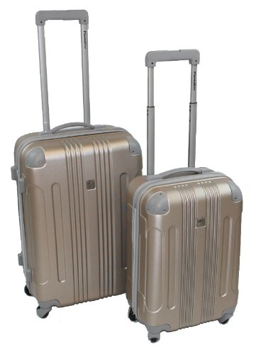 2er Set Trolley Reisekoffer Koffer-Set ABS Hartschale