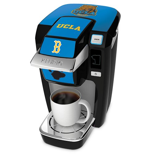 Keurig K10 Black Mini Plus Single Cup Personal Brewer With University Of California Los Angeles Decal Kit front-576002
