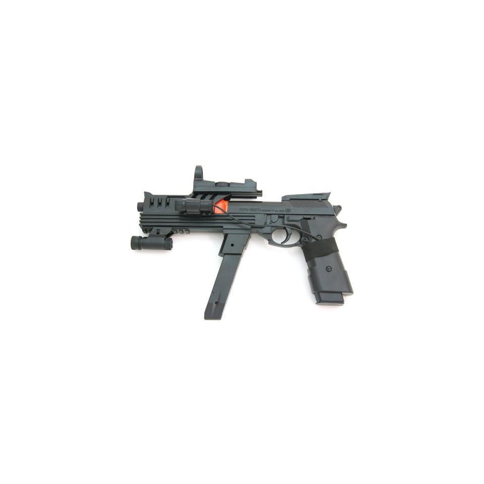 Spring Modified Beretta Pistol, FPS 110, Laser Sight, Tactical Light