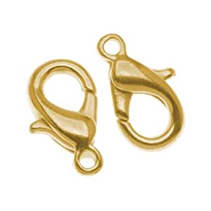 10-PieceCurvedLobsterClasps,10mm,GoldPlated
