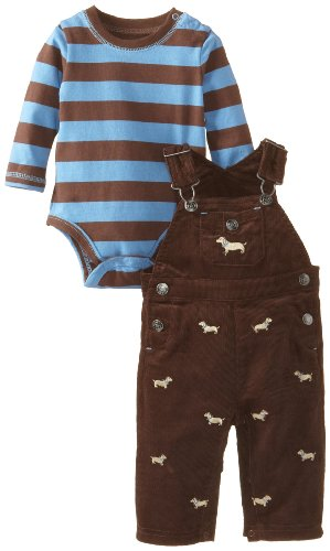 Little Me Baby-Boys Newborn Dog Overall Set,