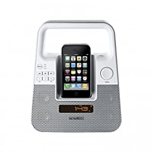Memorex MI2601PWHT TagAlong Portable Boombox for iPod