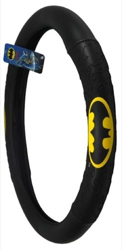 BDK WBSW-1301 Black Batman Steering Wheel Cover at Gotham City Store
