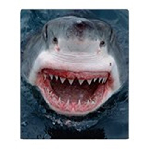 CafePress - Great White Shark - Soft Fleece Throw Blanket, 50