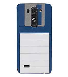ColourCraft Floppy Disk Design Back Case Cover for LG G3 BEAT