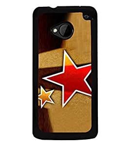 Red Star 2D Hard Polycarbonate Designer Back Case Cover for HTC One :: HTC One M7