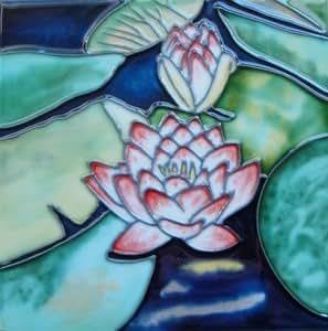 Amazon Waterlily Water Lily Decorative Ceramic Wall