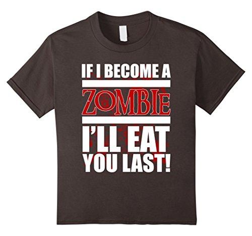 [Kids FUNNY ZOMBIE APOCALYPSE T-SHIRT Halloween Costume Gift  6 Asphalt] (Kid Zombie Costumes Ideas)