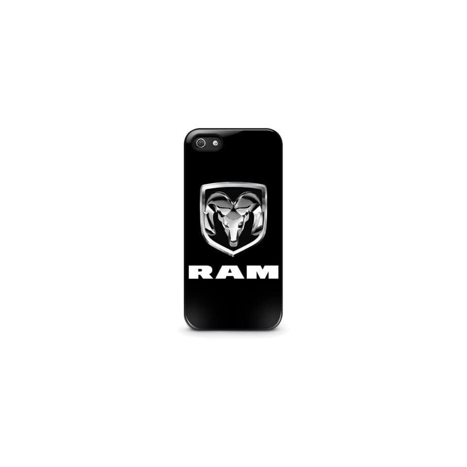 Dodge RAM Pickup Truck Chrome Logo iPhone 4 4s Hard Plastic Black Case