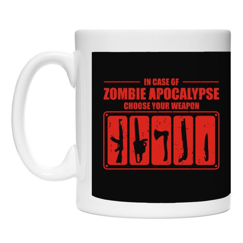 Teeburon In Case Of Zombie Apocalypse Choose Your Weapon Fansatsy And Monsters Mug