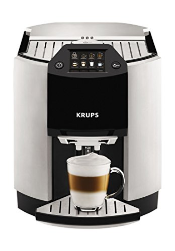 KRUPS EA9010 Barista One Touch Cappuccino Fully Automatic Machine with Automatic Rinsing and Advanced Two-Step Milk Frothing Technology, 57-Ounce, Silver