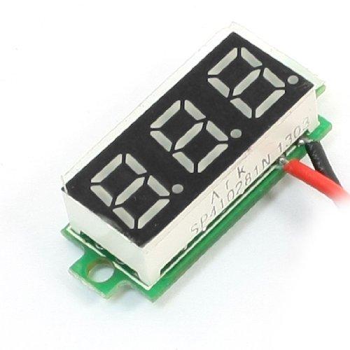 """0.28/"""" DC 0-100V Voltmeter led Digital Display Voltage Spannungsmesser 12V 24v R"""