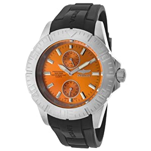 Invicta Men's 14385 Pro Diver Orange Dial Black Polyurethane Watch