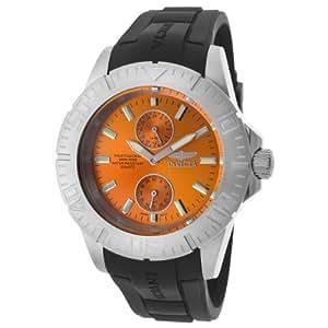 Invicta Men's 14385 Pro Diver Orange Dial Black Polyurethane Watch