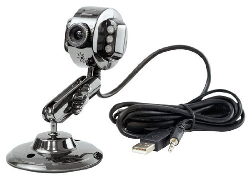 GSI - USB Webcam with Microphone and LED Lights - Metal Finish