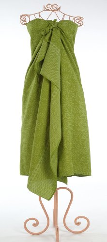 Lime Green Bracken Leaf Batik Sarong