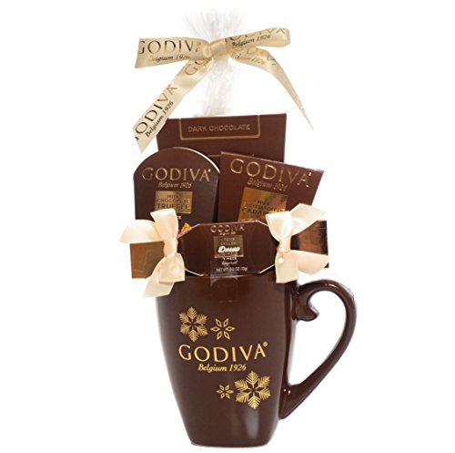 Godiva Brown Mug Chocolate Gift Set - New Assortment For 2016 Holiday Season - Special Select Chocolates With Improved Product Protective Packaging - Damage-Free Guarantee