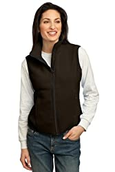 Port Authority Ladies R-Tek Fleece Vest, Brown, M