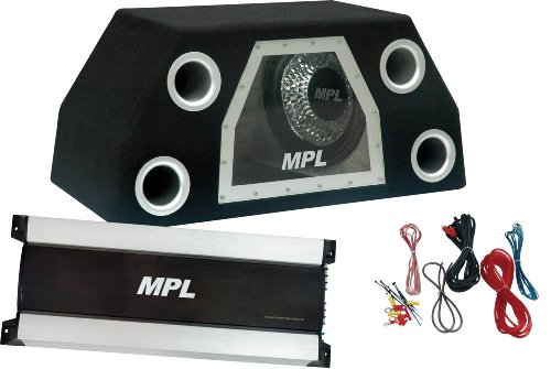Mpl Mbb-300-27Tz High Powered Dual 12-Inch 1200 Watt Band Pass Subwoofers, Amplifier And Wiring Kit