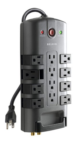 Belkin 12 Outlet Pivot Plug Surge Protector With 8 Foot Cord
