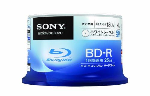 SONY ビデオ用BD-R 追記型 片面1層25GB 4倍速 プリンタブル 50枚スピンドル 50BNR1VCPP4
