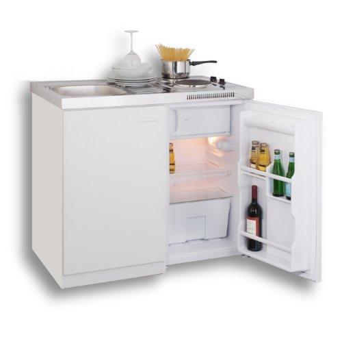 Mebasa Mk0001 Pantrykuche Minikuche 100 Cm Weiss Mit Duokochfeld Und