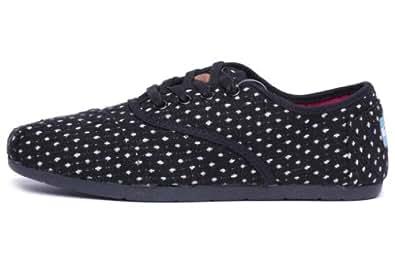 TOMS Women's Cordones Shoe Black Dots Size 11 B(M) US