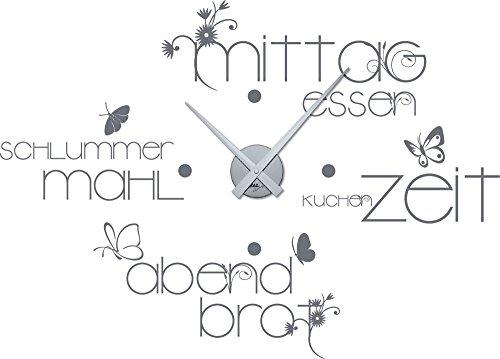 Wandtattoo Wandaufkleber mit Uhr - Wanduhr für Küche und Esszimmer ...